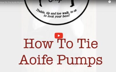 How to tie Aoife Pumps Irish Dance Shoes